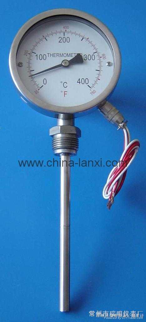 电接点远传温度计,电接点远传双金属温度计,WSSP-411-X,WTY远传温度