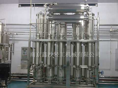 南京全自动多效蒸馏水机|制药用水电加热内螺旋多效蒸馏水机|双管板蒸馏水机