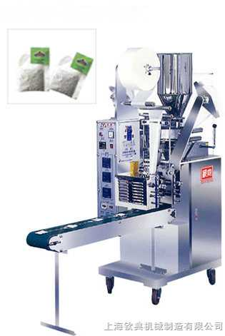 商务花茶自动袋泡茶带线兼标签包装机