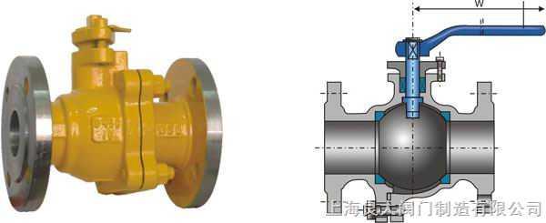 产品性能规范 Products Perfomance specification 压力等级 常温试验压力(Mpa) 壳体 密封 低气压密封 公称压力(LB) 150 3.0 2.2 0.6 300 7.5 5.5 0.6 适用温度 -40~+80 适用介质 天然气, 液化石油气等 一、用途和性能规范 Q41型球阀适用于中、小口径管路的各种压力、温度和介质下控制接通或截断管路介质的启闭装置;靠介质压力将球体压紧在出口端阀座上,其使用压力和通径受到一定限制.
