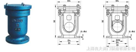 快速排气阀 安装尺寸 规格标准 结构图 使用说明书图片
