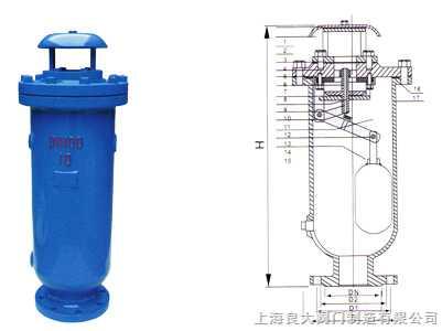 scar复合式污水排气阀 安装尺寸 规格标准 结构图 使用说明书图片