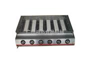 不锈钢大六头无烟燃气烧烤机/烧烤炉|全煤气烧烤炉多少钱一台